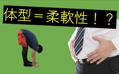 体型と柔軟性☆太っている=柔軟性が低い?